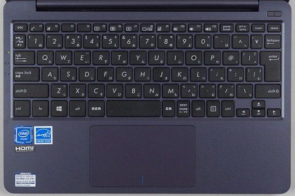 VivoBook X207NAのキーボード