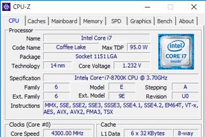 第8世代Core i7-8700K搭載