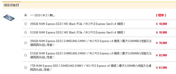 M.2 SSDの追加