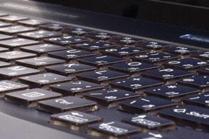 使い勝手に優れるキーボード