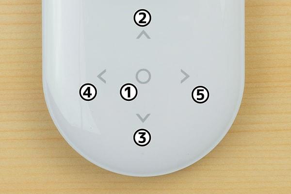 ポケトークのタッチボタン
