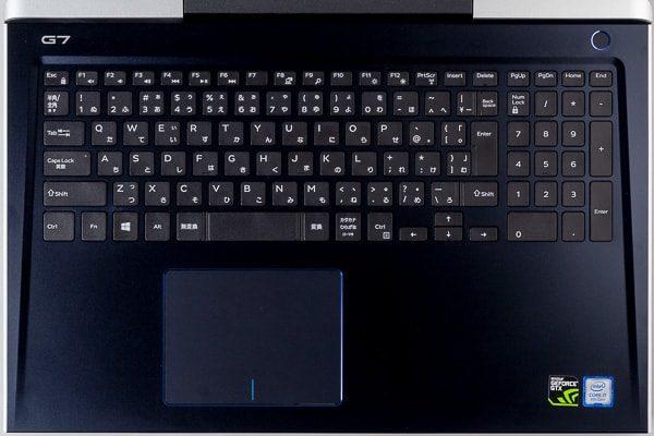 Dell G7 15のキーボード