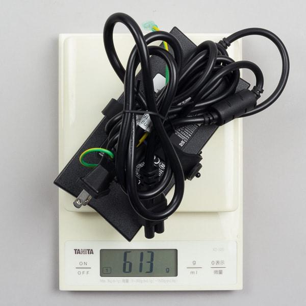 電源アダプターの重量