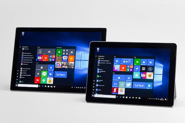 Surface GoとSurface Proの比較 大きさ