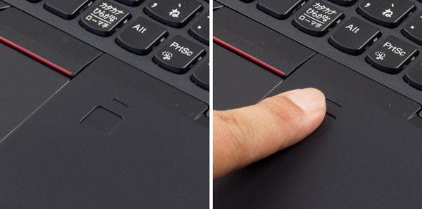 ThinkPad X280 指紋センサー