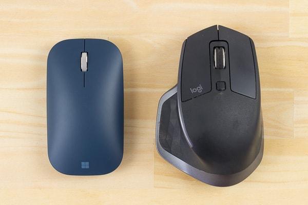 SurfaceモバイルマウスとロジクールのMX MASTER 2Sの比較