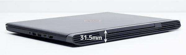 Dell G5 15 高さの実測