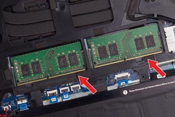 Dell G5 15 メモリースロット