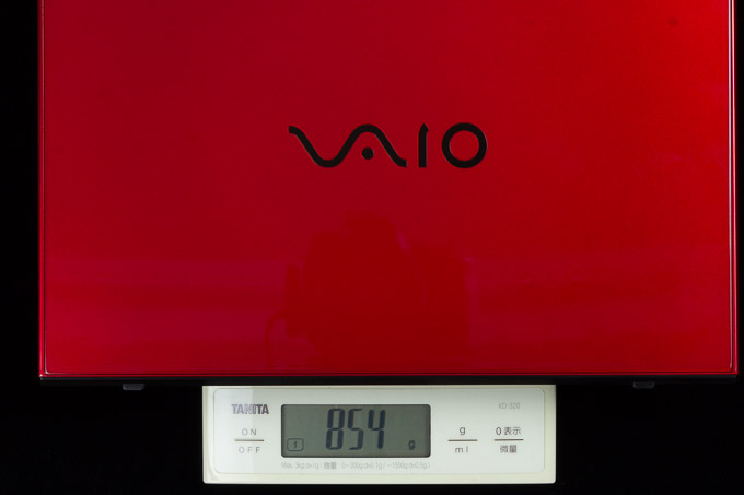 VAIO S11 | RED EDITION 重量の実測値