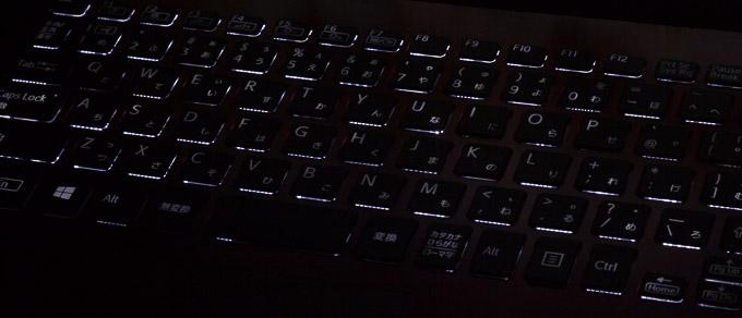 VAIO S11   RED EDITION キーボードバックライト
