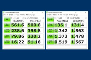 HDD+SDDの同時使用が可能
