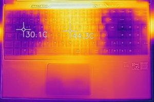 キーボード面の温度