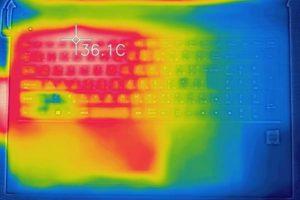 m-Book F キーボード面の温度