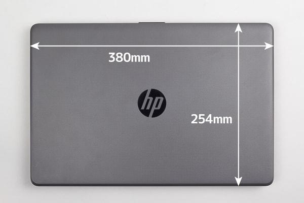 HP 250 G6 本体の大きさ