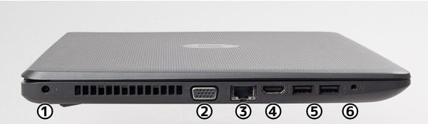 HP 250 G6 左側面