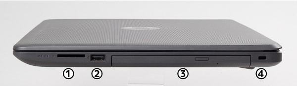 HP 250 G6 右側面