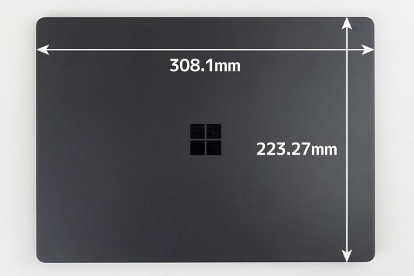 Surface Laptop 2 フットプリント