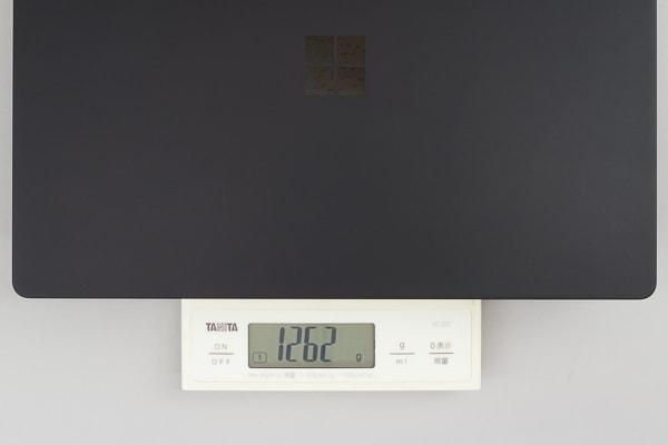 Surface Laptop 2 重量の実測値