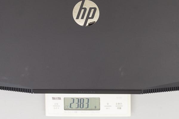 HP Pavilion Gaming 15 重さ
