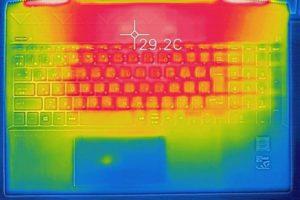 HP Pavilion 15-cs0000 キーボード面の温度