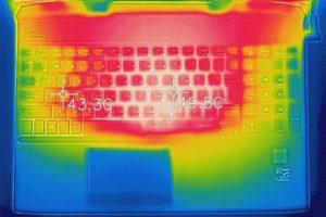 OMEN by HP 15 キーボード面の温度