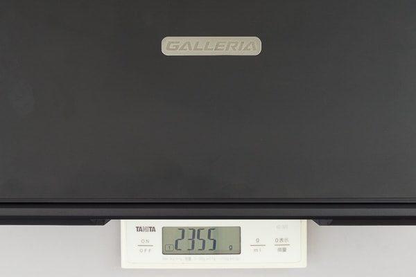 GALLERIA GCF1060GF 重さ