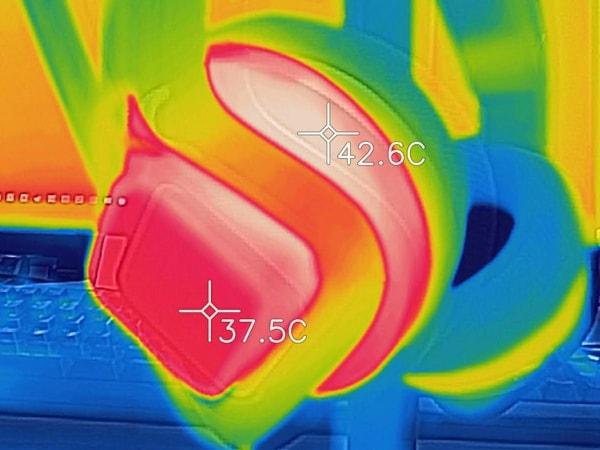 Mindframe ヘッドセット 温度計測結果