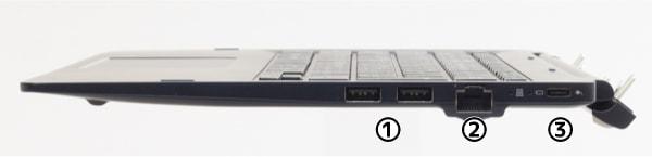 dynabook DZ83/J キーボードドック右側面