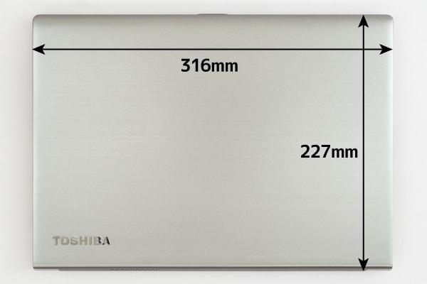 dynabook RZ63 本体サイズ