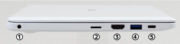 ASUS E203MA 左側面