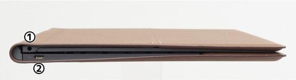 HP Spectre Folio 13 左側面