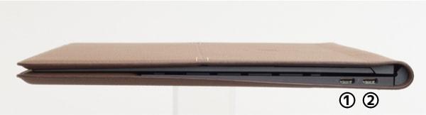 HP Spectre Folio 13 右側面