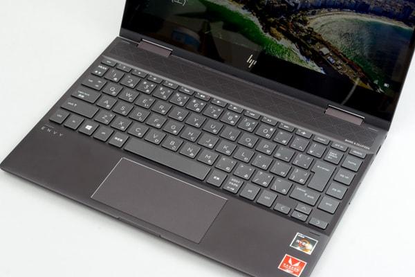 HP ENVY 13 x360 キーボード面