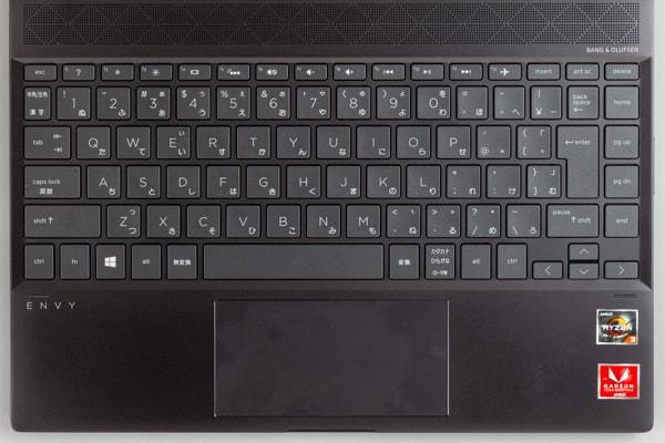 HP ENVY 13 x360 キーボード