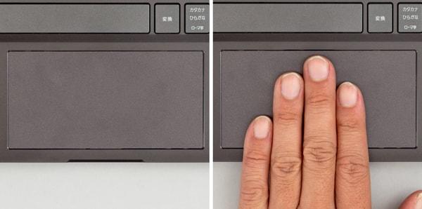 HP ENVY 13 x360 タッチパッド