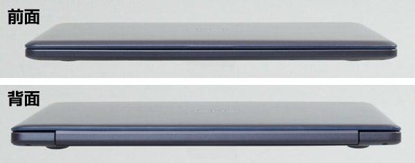 ASUS VivoBook W203MA 全面と背面