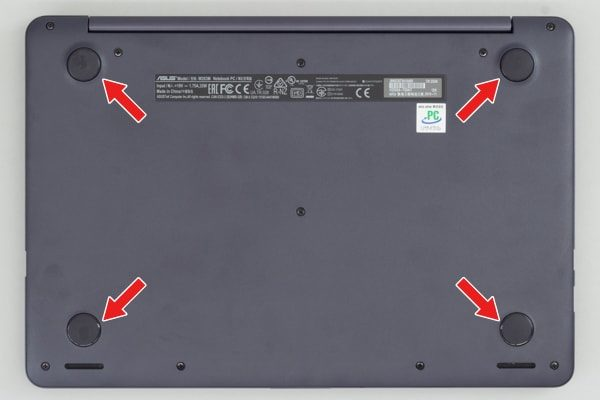 ASUS VivoBook W203MA ゴム足