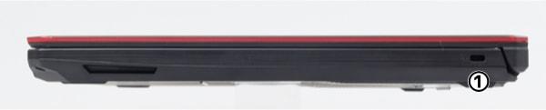 ASUS FX504 右側面