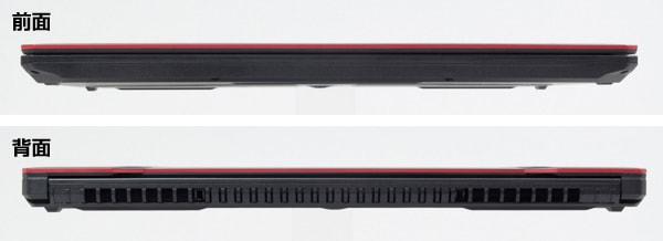 ASUS FX504 前面と背面