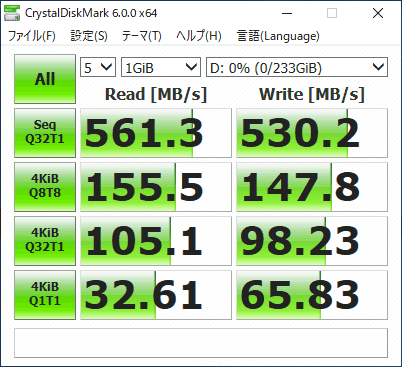 Altair VH-AD3S SSDのアクセス速度