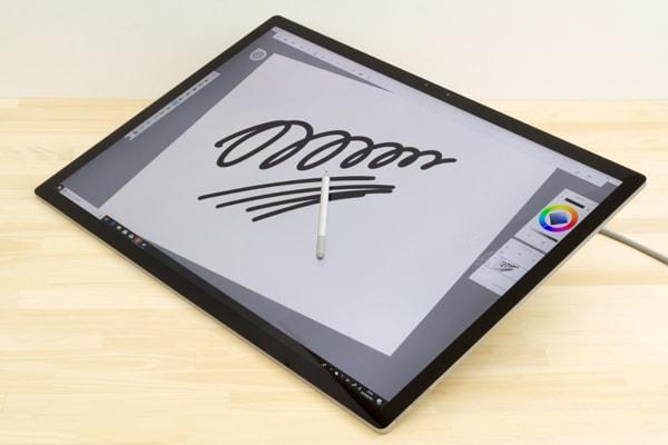 Surface Studio 2 ペンの反応