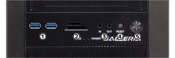 GALLERIA ZG i7-9700K 前面