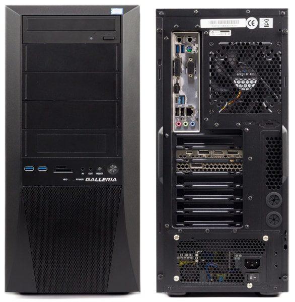 GALLERIA ZG i7-9700K 前面と背面