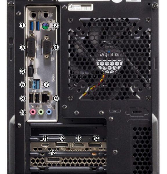 GALLERIA ZG i7-9700K 背面