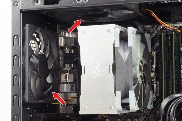 GALLERIA ZG i7-9700K CPUクーラーと空冷ファン