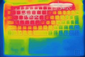 XPS 13 (9380) キーボード面の温度