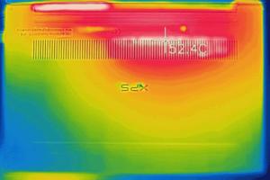 XPS 13 (9380) 底面の温度