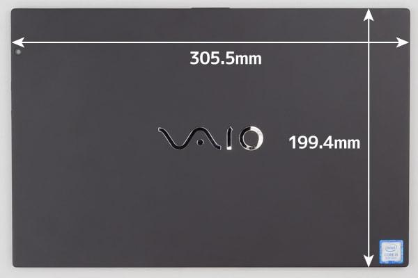 VAIO A12 タブレット時のサイズ