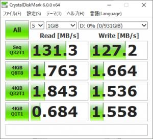 Alienware Area-51m アクセス速度
