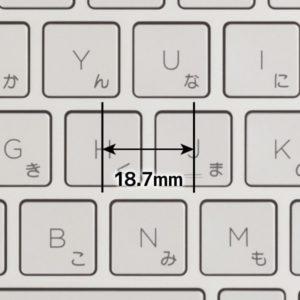 HP ENVY 15 x360 キーピッチ